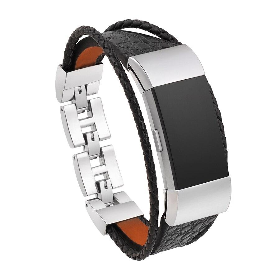 Für Fitbit Gebühr 2 Ersatz Band Leder Armband Wris Strap Armband für Fitbit Gebühr 2 Armband Correas de reloj bandje