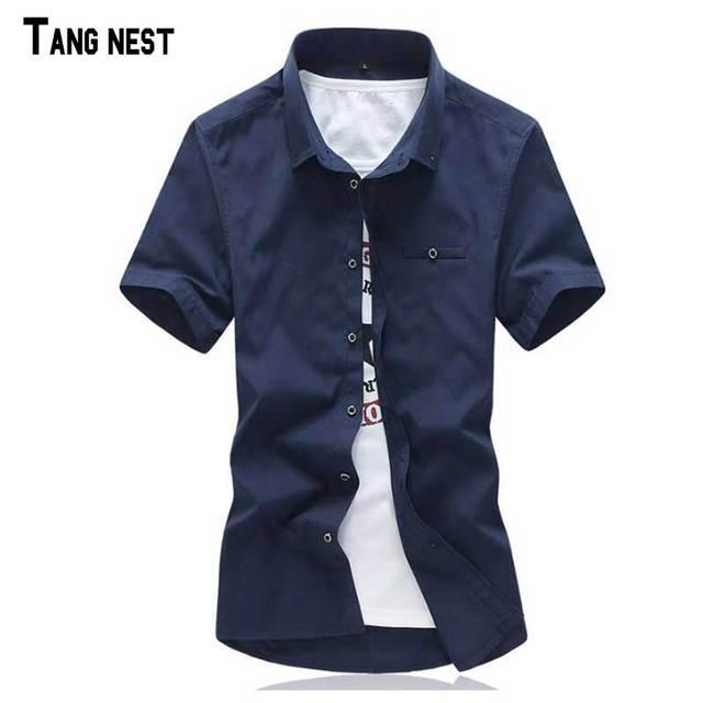 Мужчины Короткие Рубашки 2017 Новых Людей Прибытия вскользь Твердые Коротким Рукавом Рубашки Мужчины Летом Стиль Короткие Рубашки Multi-цвета MCS580