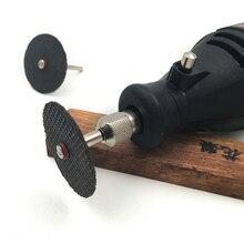 Смола отрезной диск шлифовального круга абразивные отрезные диски mini дрель dremel роторный инструмент аксессуары 12 шт./лот с 2 оправки