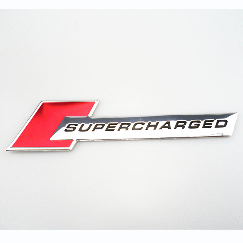 "Jaguar XFR XKR 4/"" Supercharged Chrome /& Black Fender Trunk Emblem"