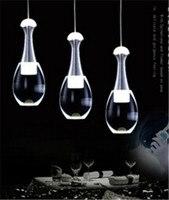 modern brief perfume bottle shape 1/3/6 head led pendent lamp luxury acryl pendent lamp for dining room decor lamp N1064