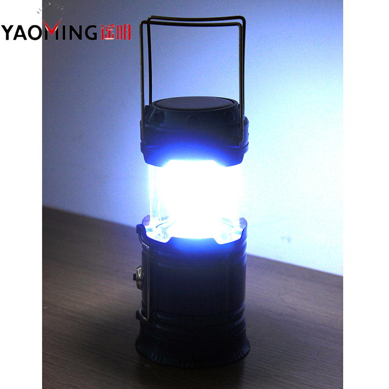 Super Bright Solar Charging USB Power Bank Torch Lamp Tent Outdoor Camping Flashlight Rechargeable Light for Hiking