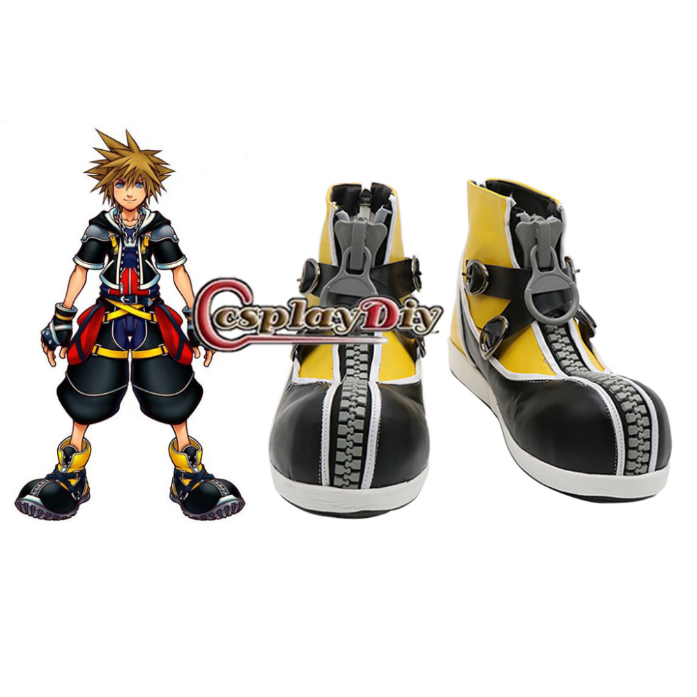 Anime Kingdom Hearts 2 Sora Cosplay Shoes Custom Made ensemble stars 2wink cospaly shoes anime boots custom made