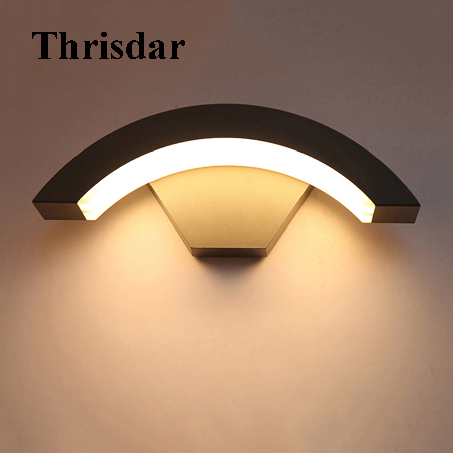 Thrisdar 8W Modern Brief Waterproof LED Wall Light Outdoor Villa Corridor Porch light balcony Engineering Villa Wall lamps modern villa porch light led wall light outdoor waterproof ip54 modern porch light led indoor outdoor wall lamps garden lamp