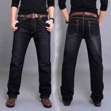Free shipping Spring and winter men s clothing plus size trousers straight Full Length casual jeans