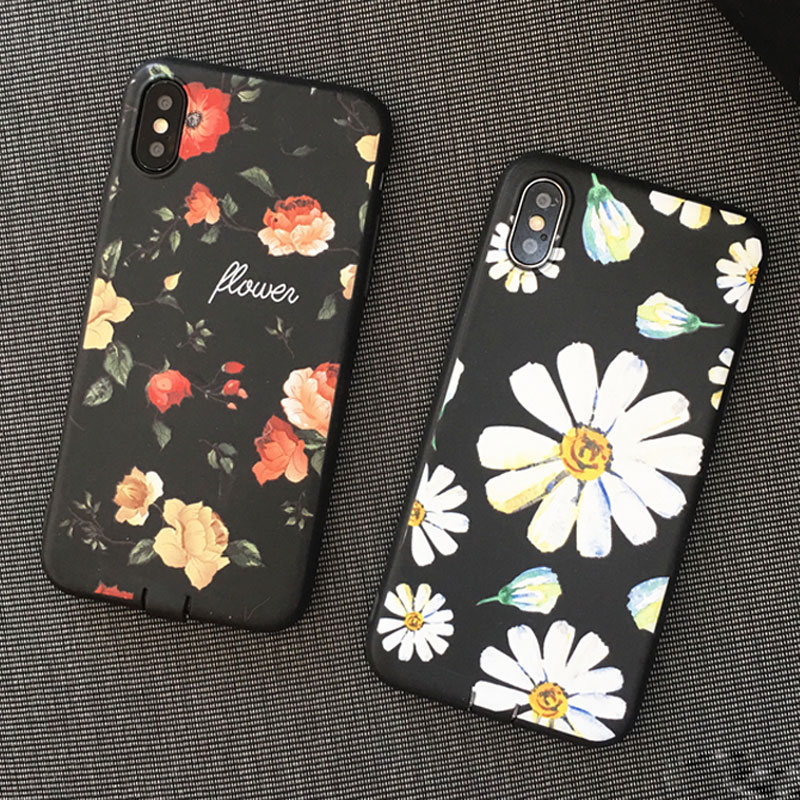 Lovely Rose Daisy Mickey Minnie Mouse Case For iPhone 6 6S 7 8 Plus Flamingo Cases For iPhone X 10 Leopard Soft Back Cover Coque