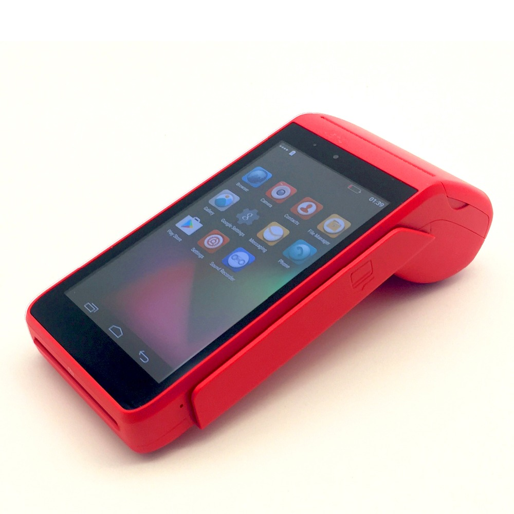 5 Display android handheld mini pos terminal integrate 58mm thermal wifi bluetooth POS payment system cashier 4G LTE