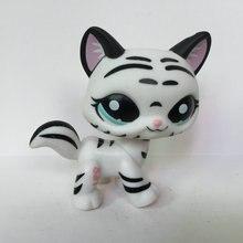Tienda blanca negra encantadora del gato figura para la muchacha del niño juguete regalo CCT302