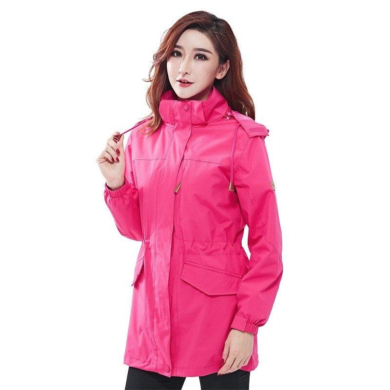 Automne hiver femmes extérieur 3 en 1 moyen long deux pièces coupe-vent veste femme coupe-vent thermique Camping randonnée ski manteau
