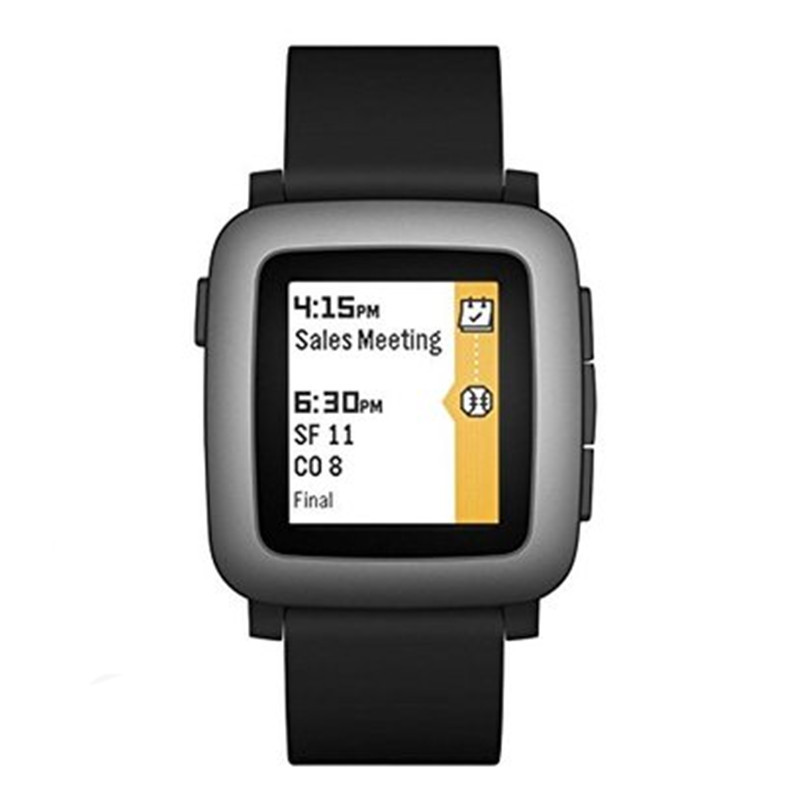ZycBeautiful Smartwatch for iPhone and Android Multi-Functions PEBBLE Time Smart Sports Watch 5-ATM Waterproof trendy sports armband for iphone 5 black