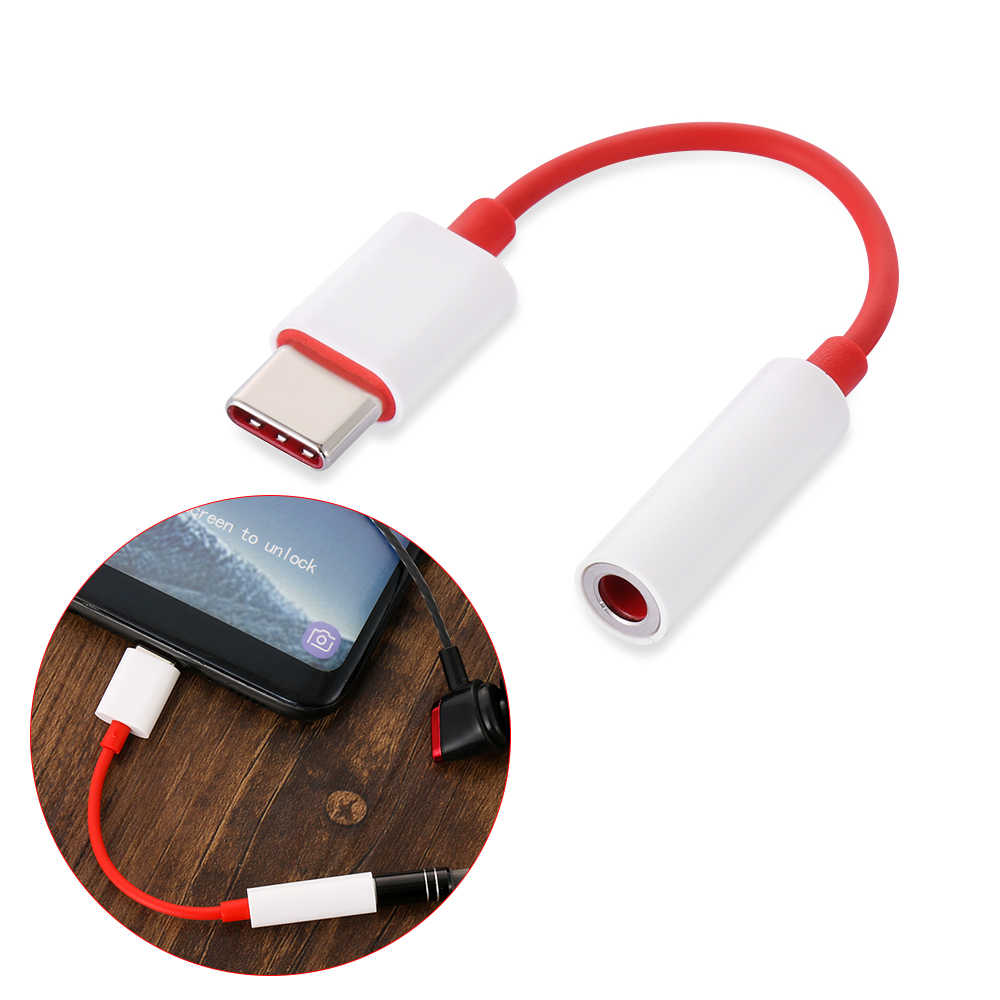 1Pcs High Quality Smartphones Audio Cable Original For Oneplus 6T Usb Type C To 3.5mm Earphone Jack Connector Adapter Audio