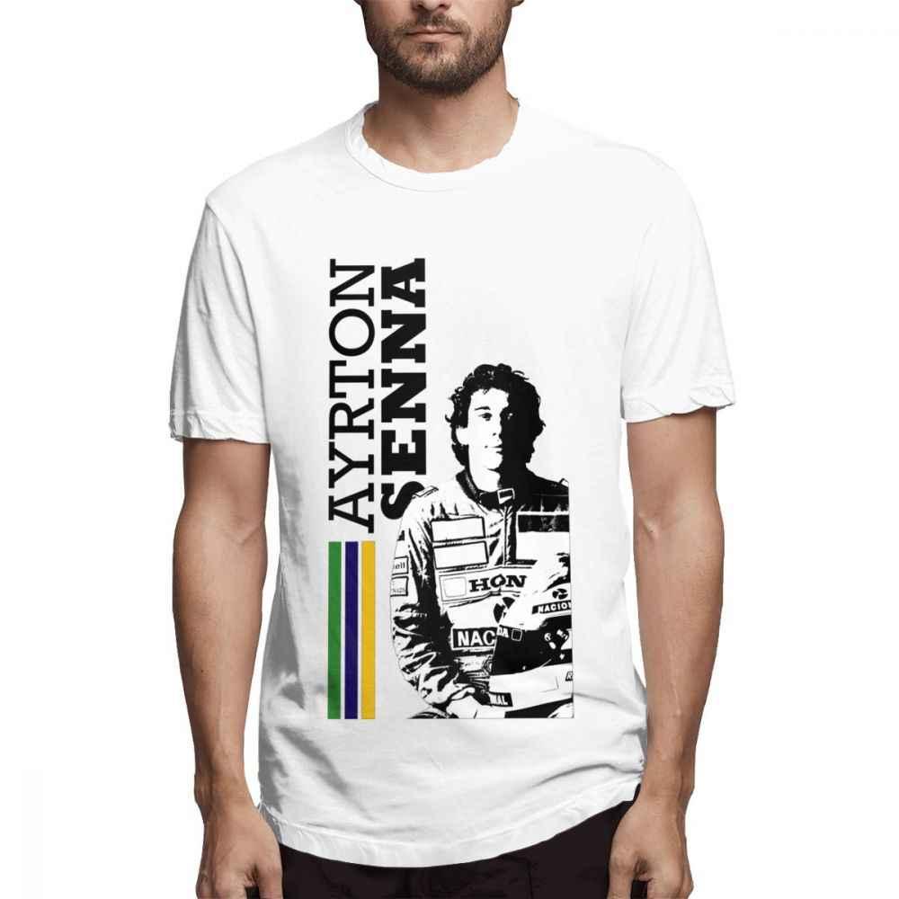 F1 Ayrton Senna Brazil Anh Hùng Xe Người Hâm Mộ T Áo Sơ Mi Thời Trang Mùa Hè Thời Trang Dạo Phố Tee Áo Sơ Mi 100% Cotton S-6XL Cộng Với Kích Thước T-Shirt