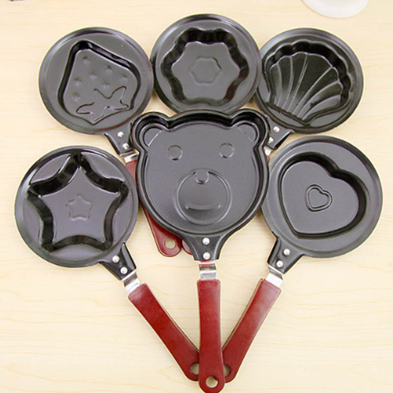 Cute Non-Stick Stainless Mini Breakfast Egg Frying Pans