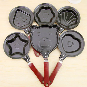 Cute Shaped Egg Mould Pans Nonstick Stainless Mini Breakfast Egg Frying