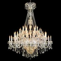 Long Grand 65 Pcs Led Chandelier Crystal Lamp For Duplex House Living Room Church Hotel Big