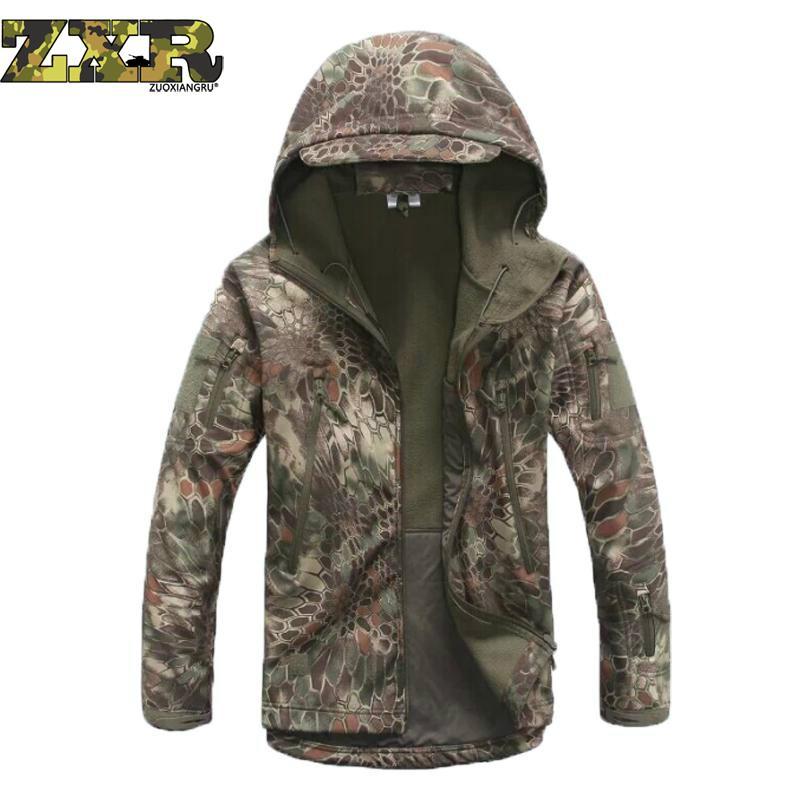 Zuoxiangru armée Camouflage hommes veste manteau militaire tactique veste hiver imperméable doux Shell vestes coupe-vent chasse vêtements