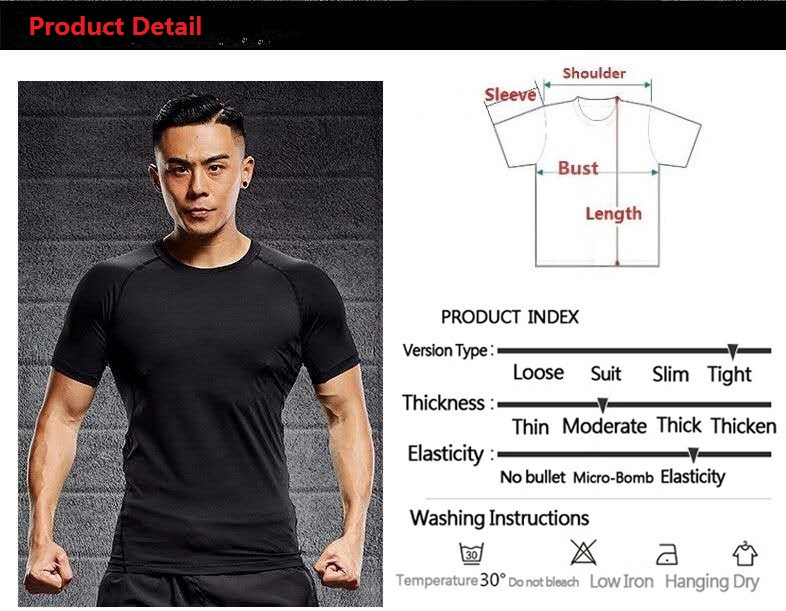 Gym Shirt Men Workout Fitness Compression Shirt Quick Dry Running T Shirt Elastic Sportswear Basketball ropa deportiva in Running T Shirts from Sports Entertainment
