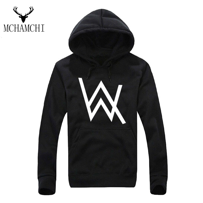 MCHAMCHI Alan Walker DJ set Mens Hoodies Outerwear Electronic printed sweatshirts Fashion Casual Male Hoodie Homme