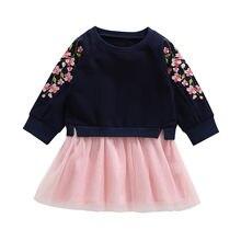 b62411d609832 Robes enfant en bas âge bébé enfants vêtements filles robe fleurs de  cerisier broderie épissage robes de princesse enfants costu.