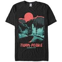 2017 Short Sleeve Cotton T Shirts Man Clothing Twin Peaks Population Mens Graphic T Shirt