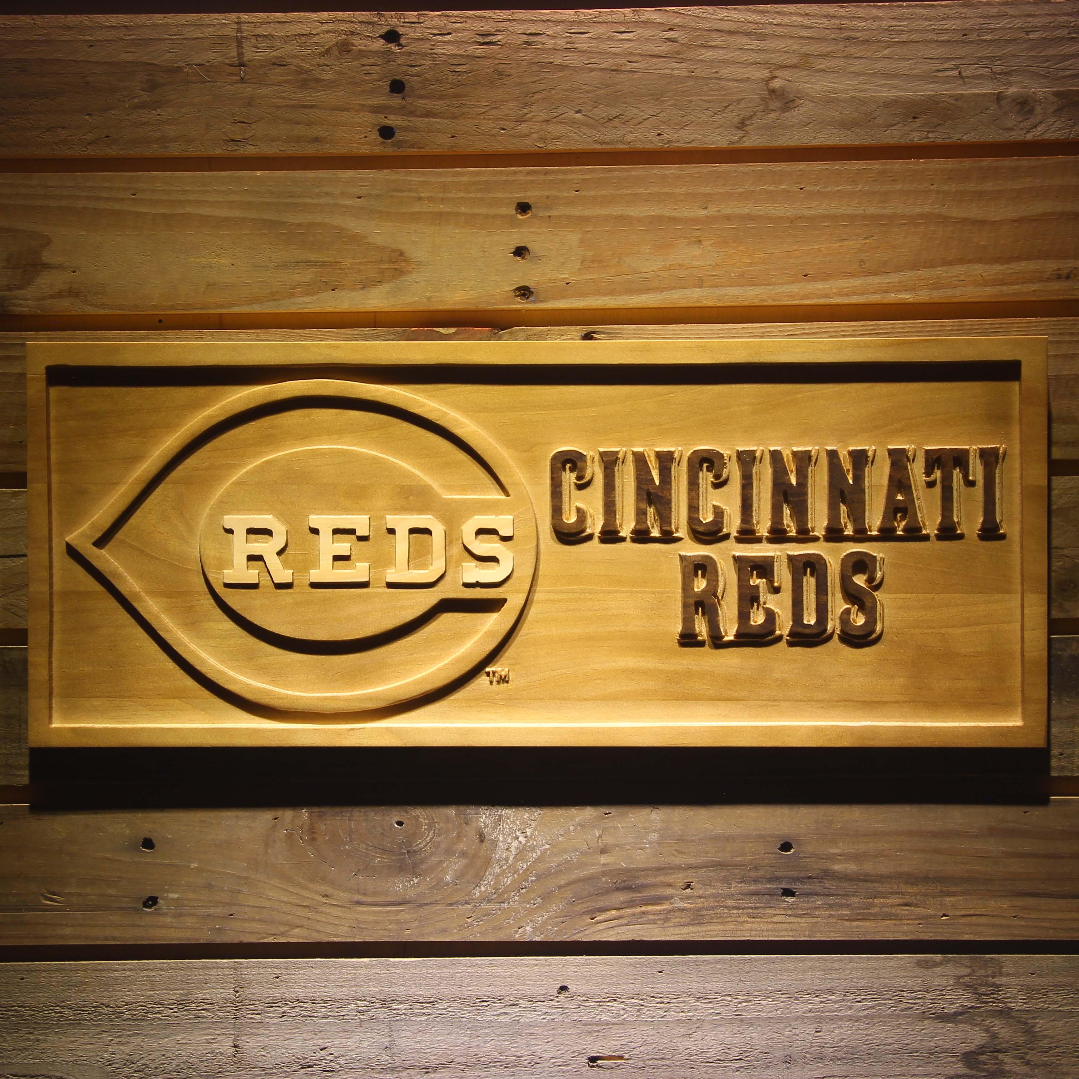 Cincinnati Reds 3D Wooden Sign
