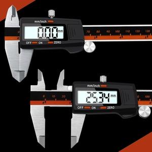 Image 2 - Digital Vernier Caliper 6 Inch 0 150mm Stainless Steel Electronic Caliper Micrometer Depth Measuring Tools