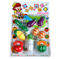 Children Creative Funny Kitchen Food Pretend Play Toy Educational Cutting Fruit Vegetable Toy For Children Kids Gift