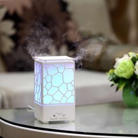 Creative water cube hollow out essential oil diffuser, ultra quiet 7 color lamp home office hydrating ultrasonic humidifier
