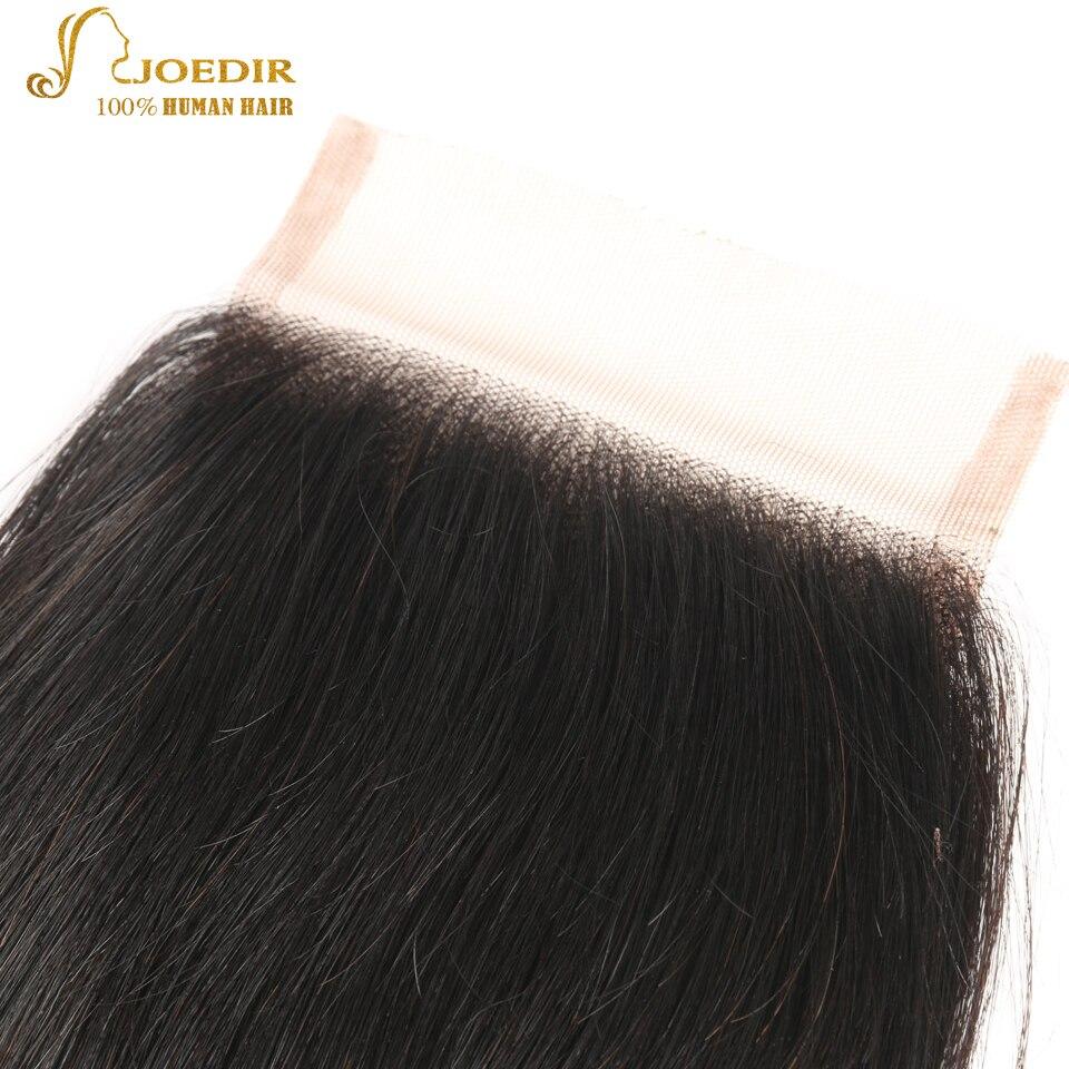 JOEDIR Hair Brazilian Body Wave Lace Closure 4x4 Fria / Mellersta / - Barbershop - Foto 3