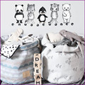 INS Party Supplies popular Mummy bag With large toy half moon modern style Blanket can stand Children's room canvas Play Mat