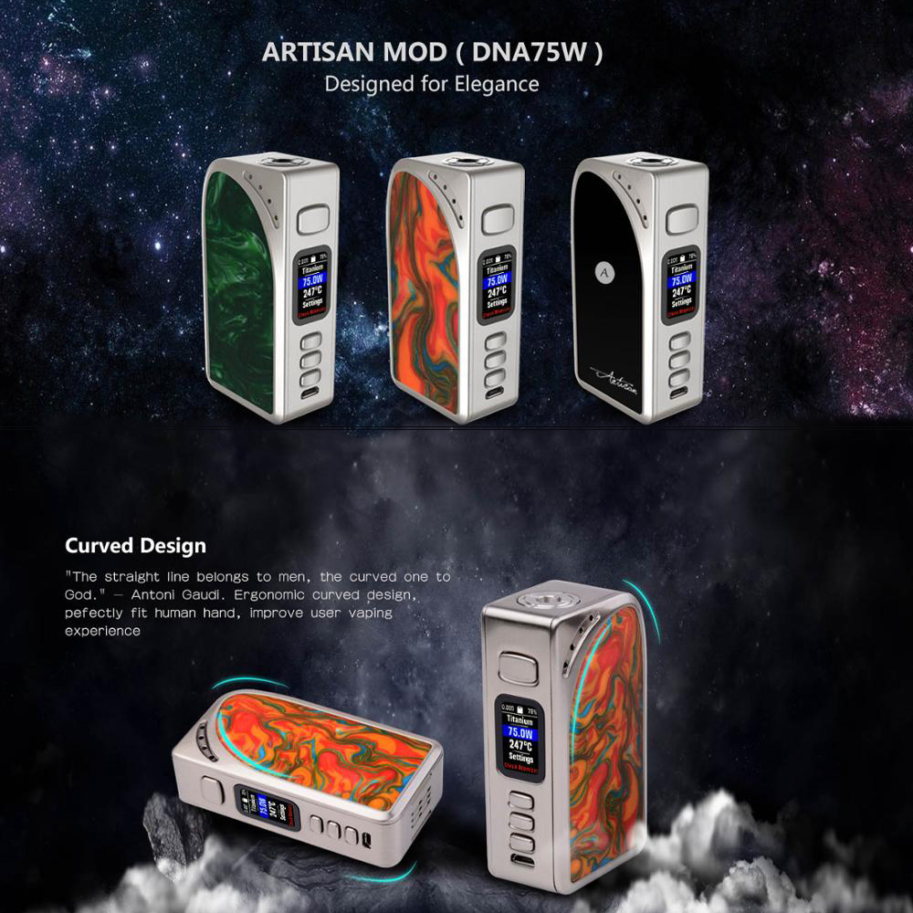 Здесь можно купить  Original Evolv DNA75C New arrival beautiful design dna 75w e cigarette box mod  Бытовая электроника