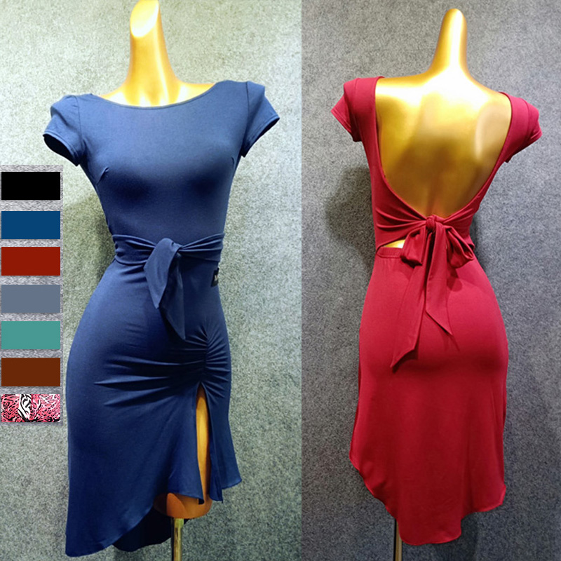 Latin Dance Dress Women Open Back Modal Competition Dresses Samba Dancing Costumes Clothes Adults Performance Wear Female DN3367