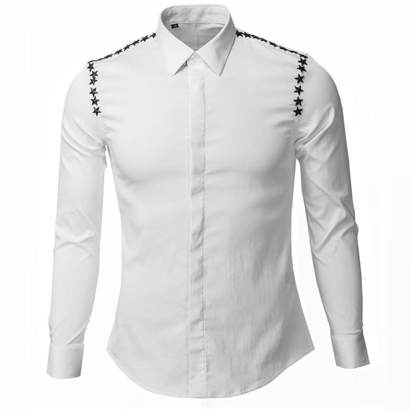 Evening dress long sleeve dress shirt design patterns for for Patterned dress shirts for men