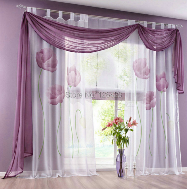 Good Quality Curtains Uk Part - 31: (One Piece) UK Handmade Inkjet Flowers Window Living Room Sheer Curtain/Good  Quality ...
