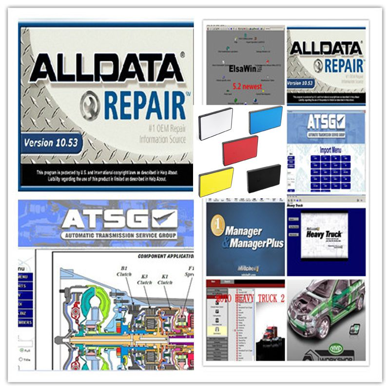 2019 New Arrival Alldata 10.53 all data auto repair software with mitchell ondemand 2015 software manager plus 47in1tb usb hdd