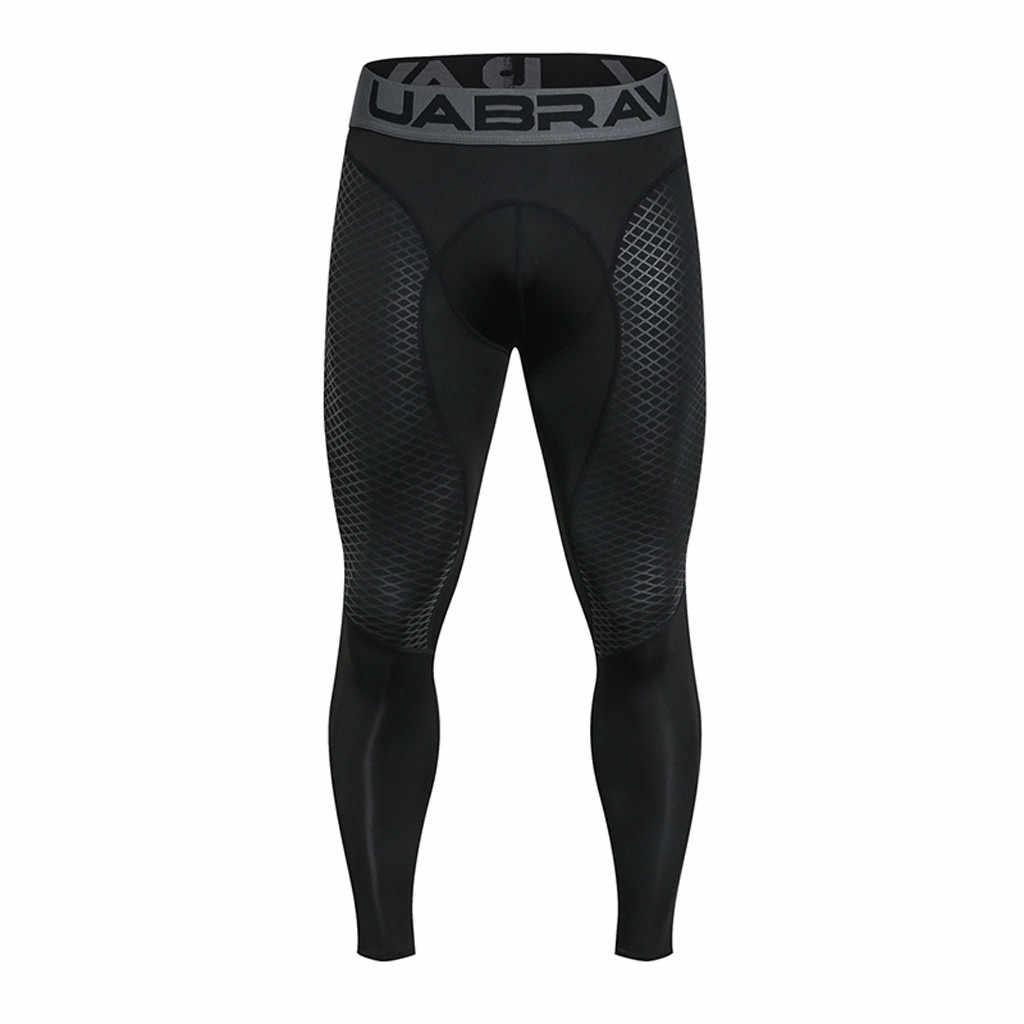 62097268cc03ad 2019 Summer Thermal Casual Pants Men Brand Compression Tights Skinny  Leggings Men Fashion Elastic Fitness Crossfit