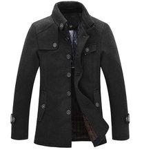 a5e2f846f90 Дропшиппинг Новые брендовые зимние Для мужчин шерстяной жакет Повседневное  пальто Для мужчин s утепленные куртки Для