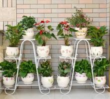 Flower shelf multi-storey indoor balcony shelf, Tieyi living room provincial space flowerpot landing flower shelf цены