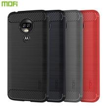 MOFi For Motorola Moto G7 Power Case Cover Luxury Soft Fiber TPU Silicone Phone Cases Back