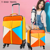 New Fashion Korea Rolling Luggage Spinner Travel Bag Student Trolley Case 16 Inch Boarding Box Trunk