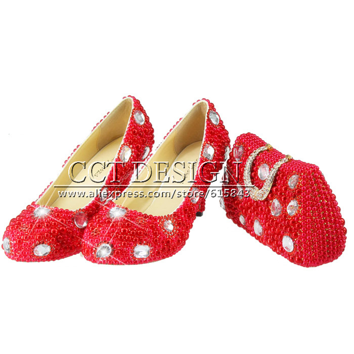 Sexy Red High Heel Sandals Wedding Shoes Customized Sparkly Diamond  Platfrom Party Evening Shoes Italian Shoes And Bag Set something red wedding shoes customized sparkly diamond red high heels platfrom party evening shoes italian shoes and bag set