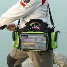 2017 Waterproof Nylon 40cm*20cm*20cm Large capacity Boat fishing bag Multifunction Lure Fishing Tackle Pack Outdoor Shoulder Bag