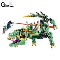 GonLeI 31072 Ninjagoings 592pcs Movie Series Flying Mecha Dragon Building Blocks Bricks Toyscompatiable Legoings 70612