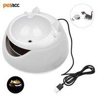 Petacc Pet Su Çeşme Kedi İçme Çeşmesi Gece Işık ile Elektrikli Kedi Su Pınarı
