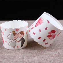 15pcs Wedding Design food grade paper Cupcake Tools Pack Paper Cup Cake Baking Mold Candy Cups Muffin Case Wrapper