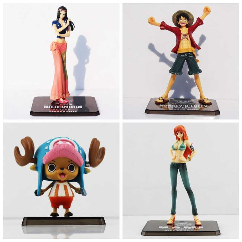 1Pcs One Piece nico Robin Chopper Luffy Nami PVC Action Figure Toy grande presente para As Crianças