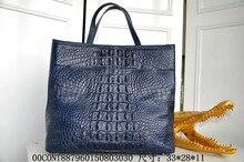 100% genuine crocodile skin, Authentic  Crocodile Skin Womens Hornback Leather Zip Locked Bag Purse Handbag