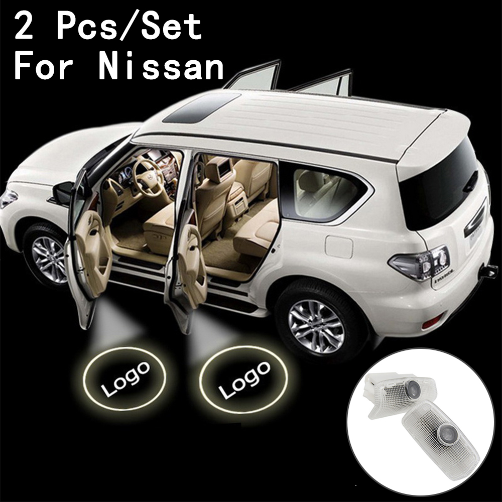 Lens Include 7W Only For Nissan/Patrol/Teana Step Door Courtesy Laser Ghost Shadow Projetor With Logo LED Courtesy 2Pcs/Set