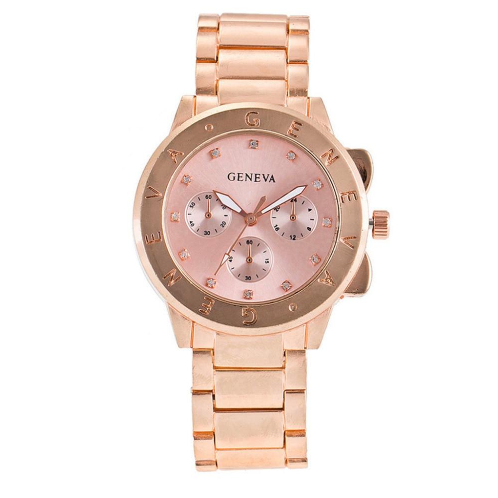 Women Watches Bayan Kol Saati Fashion Rose Gold Silver Luxury Geneva Rhinestone Ladies Quartz Watch For Women Zegarek Damski #W