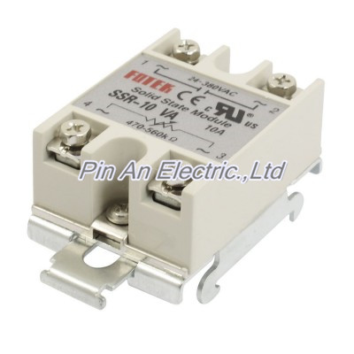 SSR-10VA 10A 24-380VAC Output DIN Rail Base Adjustable Solid State Relay Module normally open single phase solid state relay ssr mgr 1 d48120 120a control dc ac 24 480v